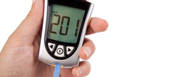 Diabetes-Glucometer showing a bad result in the display